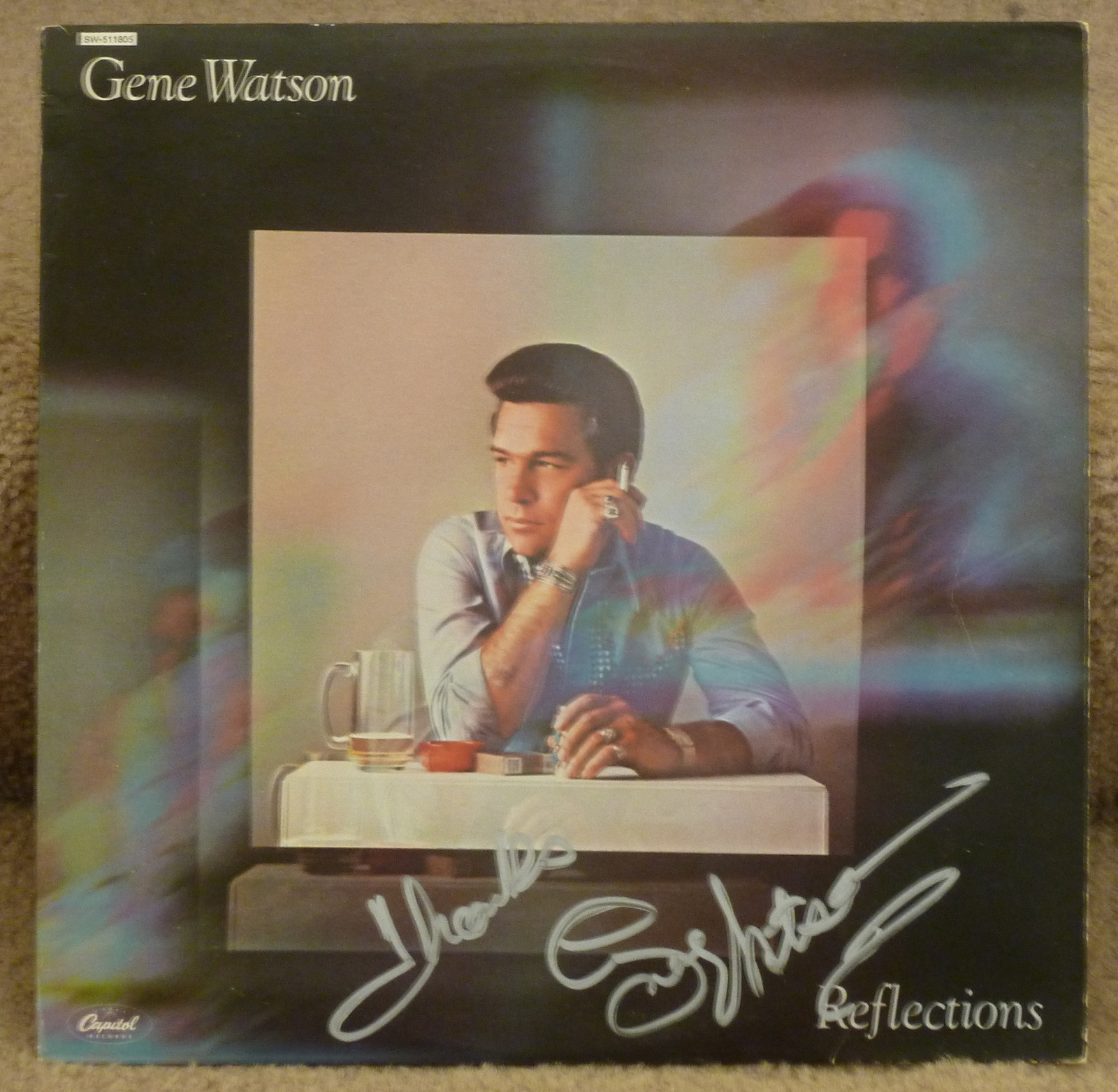 Gene Watson Reflections LP - Autographed Country Music Memorabilia