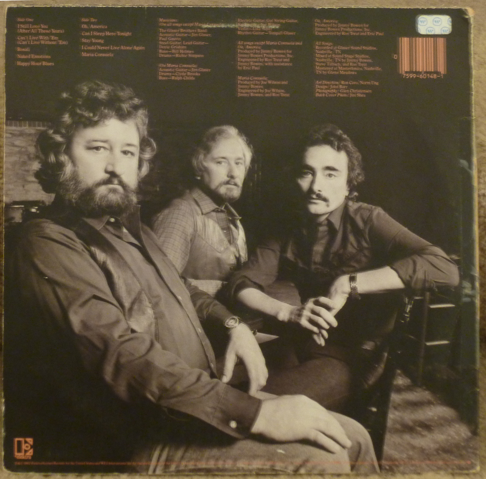 Tompall & The Glaser Brothers After All These Years LP - Autographed Country Music Memorabilia