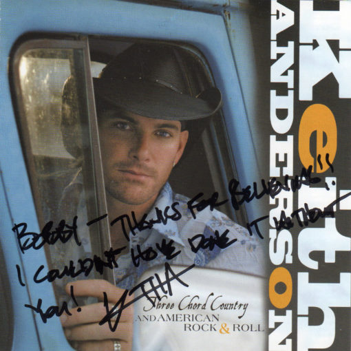 KEITH ANDERSON Three Chord Country And American Rock & Roll CD Autographed Signed
