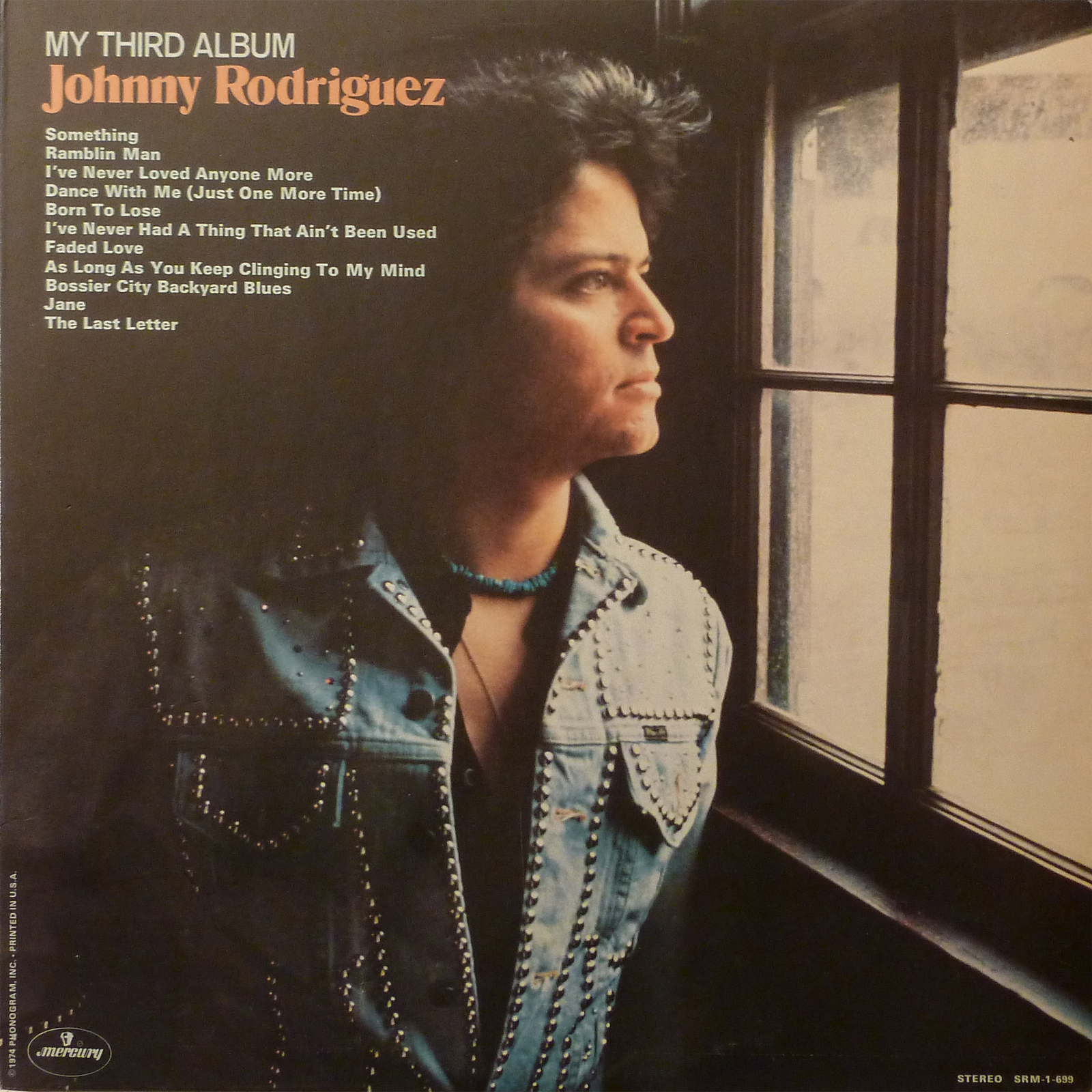 Johnny Rodriguez My Third Album LP