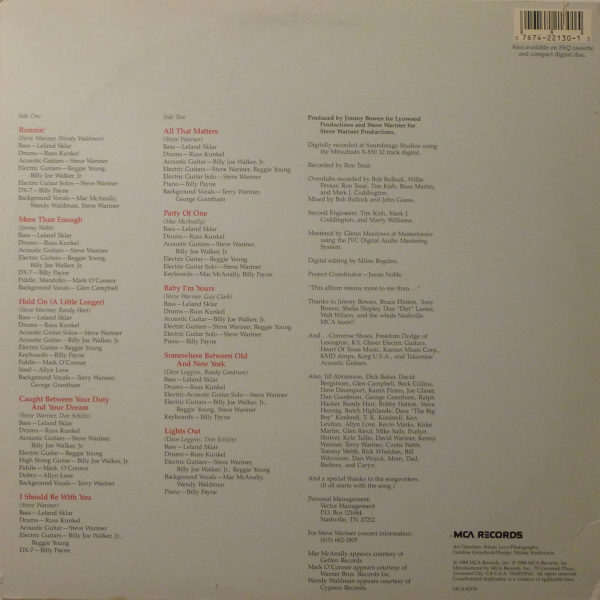 Steve Wariner I Should Be With You LP
