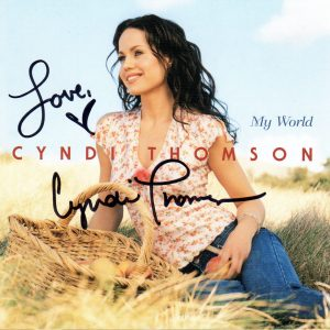 CYNDI THOMSON My World CD Autographed Signed